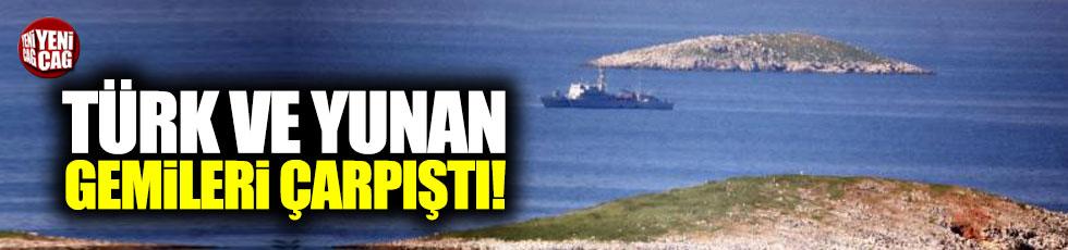 Ege'de Yunan ve Türk gemisi çarpıştı