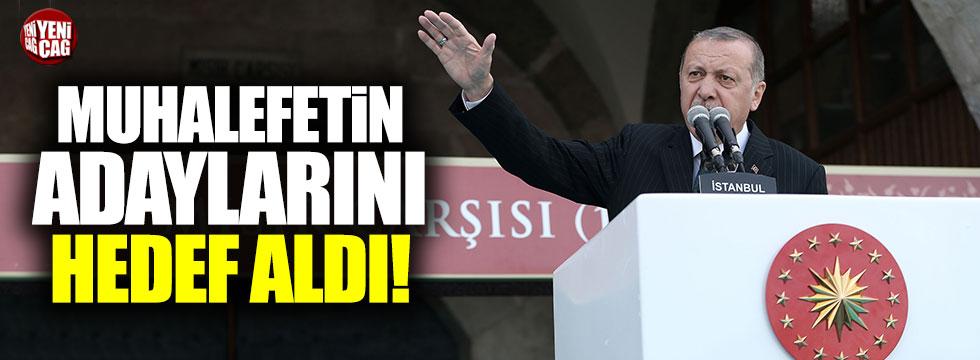 Erdoğan, cumhurbaşkanı adaylarını hedef aldı