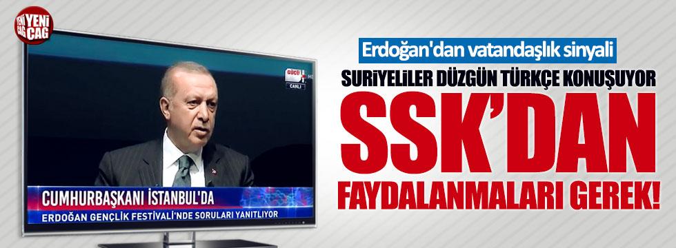Erdoğan'dan Suriyelilere vatandaşlık sinyali