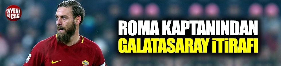 Roma kaptanından Galatasaray itirafı