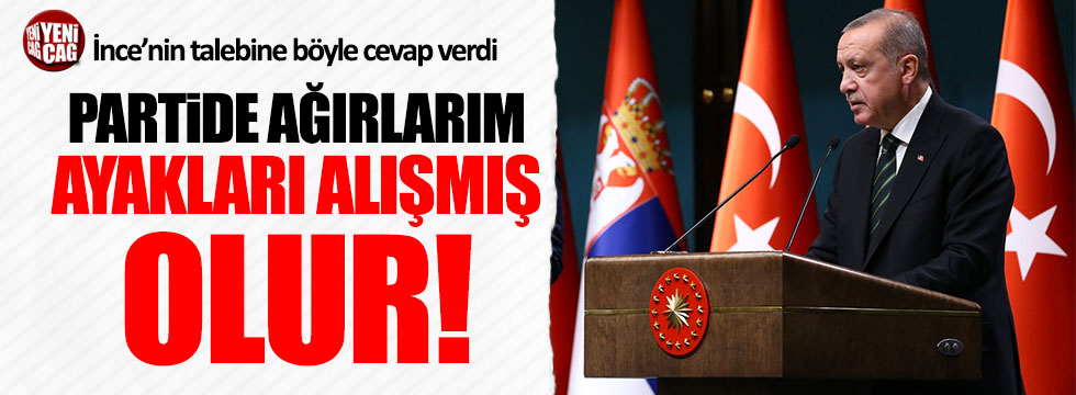 Erdoğan'dan İnce'ye randevu