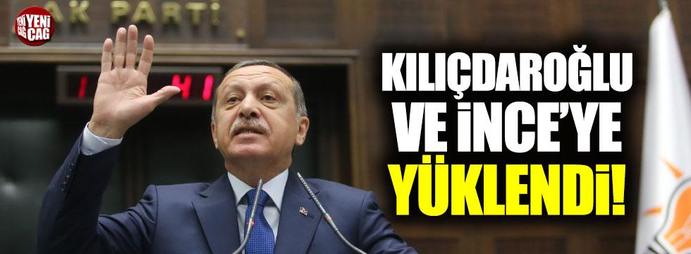 Erdoğan Kılıçdaroğlu ve İnce'yi hedef aldı