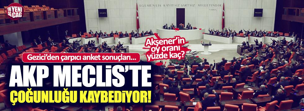 AKP Meclis'teki çoğunluğu kaybediyor