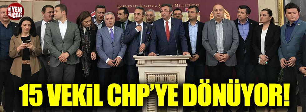 İYİ Parti'ye geçen 15 vekil geri dönüyor