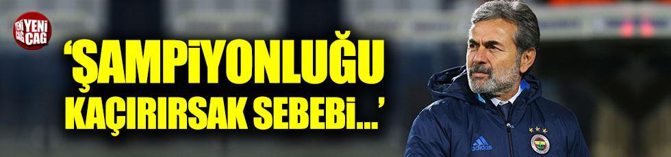 """Aykut Kocaman: """"Şampiyonluğu kaçırırsak sebebi..."""""""