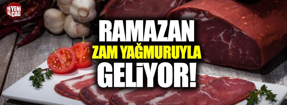 Pastırma ve sucuğa Ramazan zammı
