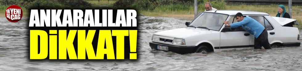 Ankara için sel alarmı