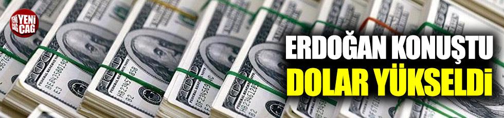Erdoğan konuştu, dolar yükseldi