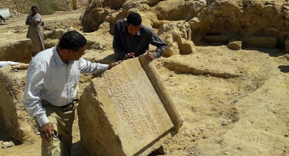 Mısır'da Roma dönemine ait arkeolojik tapınak bulundu