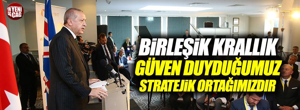 Erdoğan, İngiltere'de konuştu