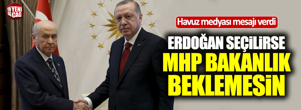MHP'ye kabinede yer yok