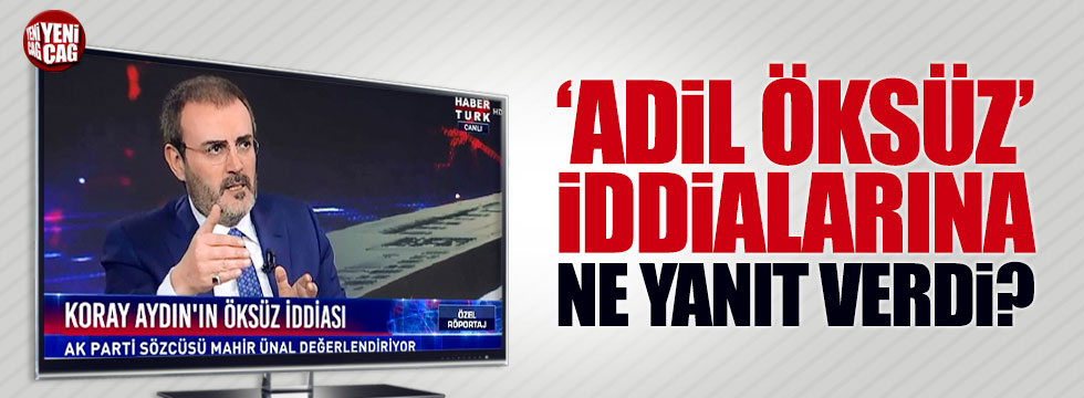 'Adil Öksüz' iddialarına Mahir Ünal'dan yanıt!