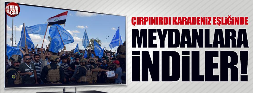 Türkmenler Kerkük'te meydanlara indi