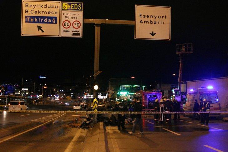 Avcılar'da trafik kazası