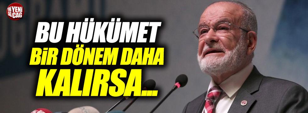"""Karamollaoğlu: """"AKP kalırsa ekonomiyi hiç kimse düzeltemez"""""""
