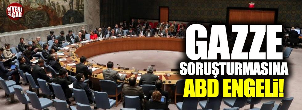 Filistin soruşturmasına ABD engeli