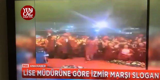 Müdürden skandal hareket İzmir Marşı'nı slogan saydı