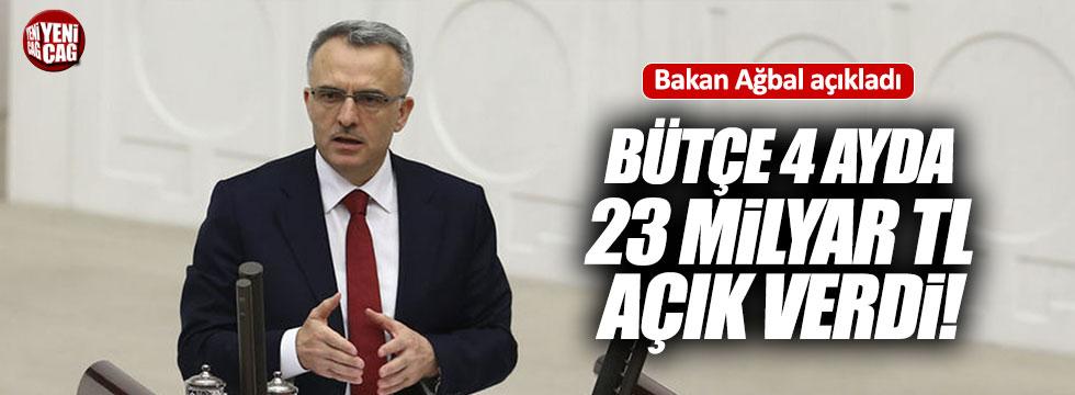 """Ağbal:"""" Bütçe 4 ayda 23.2 milyar açık verdi"""""""