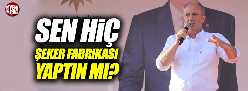 İnce'den Erdoğan'a cevap