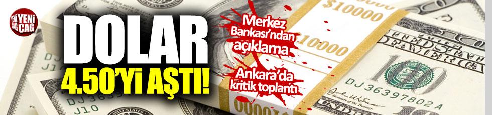 Dolar 4.50'yi aştı: Merkez Bankası'ndan açıklama
