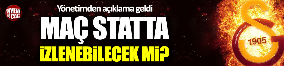 Galatasaray'dan Göztepe maçıyla ilgili açıklama