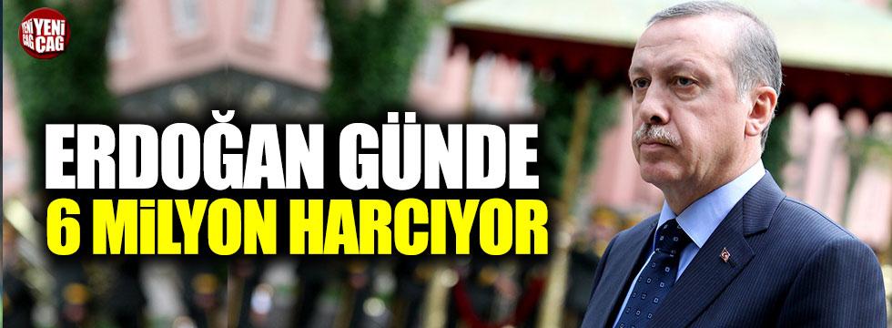 Erdoğan günde 6 milyon harcıyor