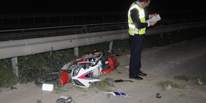 Bursa'da motosikletli kaza
