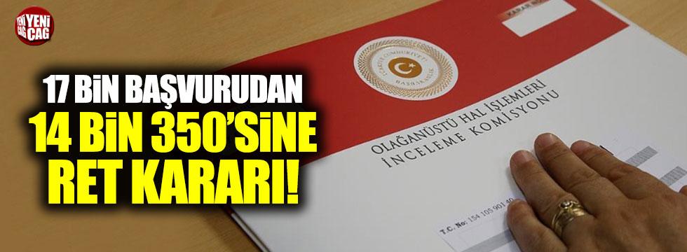 OHAL Komisyonu'ndan 14 bin 350 başvuruya ret