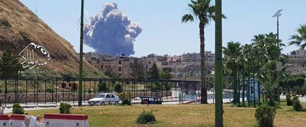 Suriye'de Esad'a ait askeri üste patlama