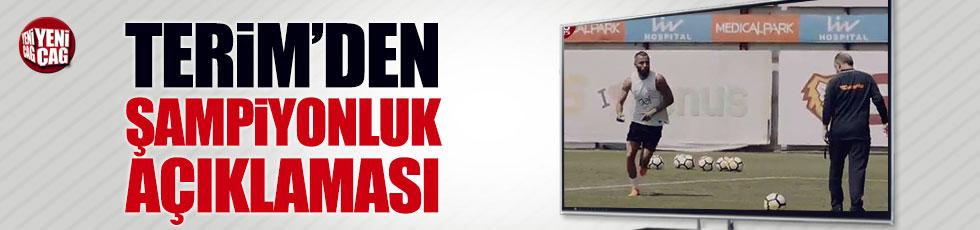 Fatih Terim'den şampiyonluk açıklaması
