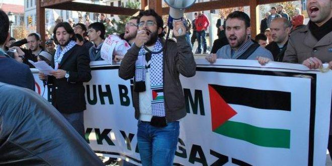 Erzurum'da Gazze Protestosu