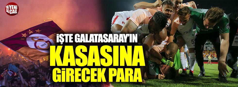 İşte Galatasaray'ın kasasına giren para