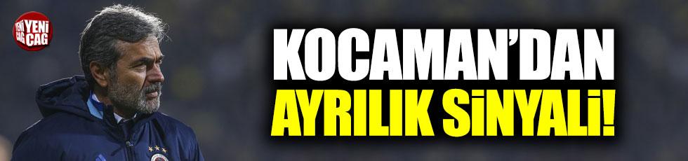 Aykut Kocaman'dan ayrılık sinyali