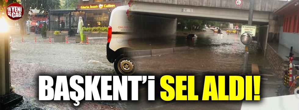 Başkent'i sel aldı!