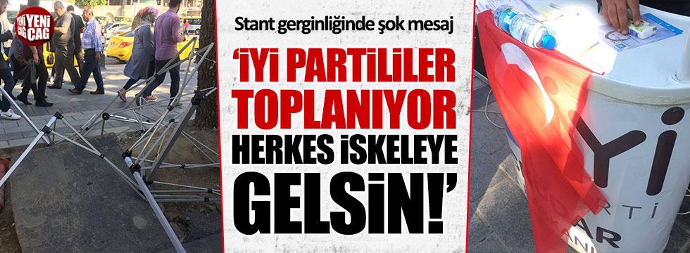 MHP'li üyelere İYİ Parti standıyla ilgili şok mesaj
