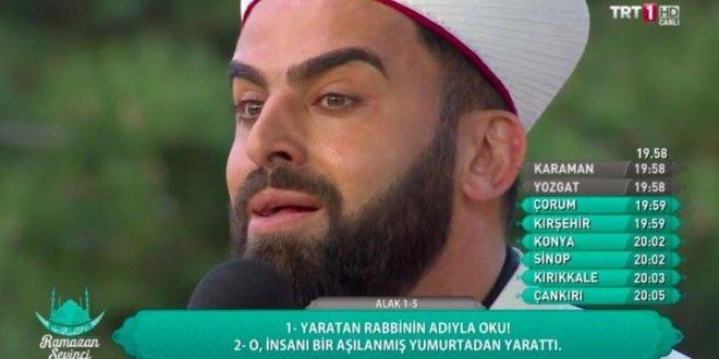 TRT imamı sosyal medya fenomeni oldu