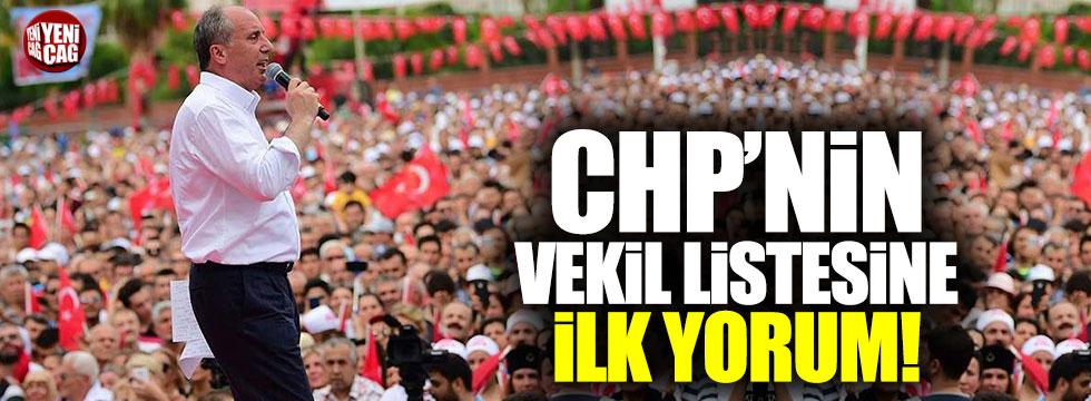 İnce'den CHP'nin milletvekili listesine ilk yorumu