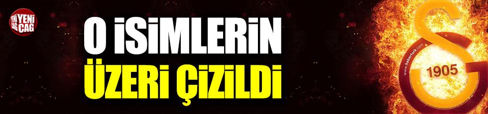 Galatasaray'da 3 ismin üzeri çizildi