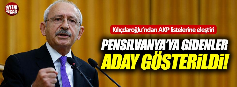Kılıçdaroğlu'ndan AKP listelerine eleştiri
