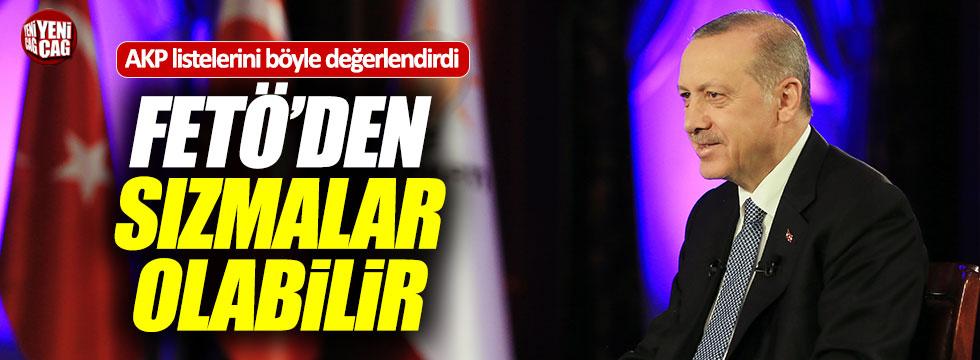 """Erdoğan: """"Adaylar arasında FETÖ'den sızmalar olabilir"""""""