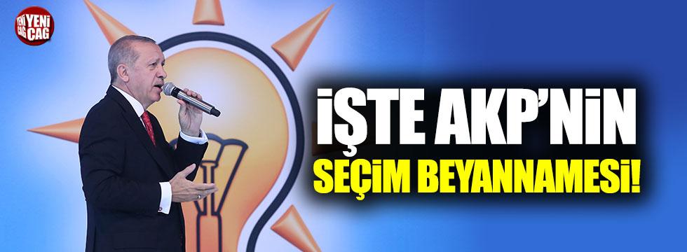 İşte AKP'nin seçim beyannamesi