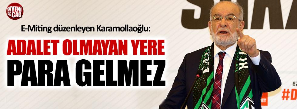 Karamollaoğlu E-Miting düzenledi