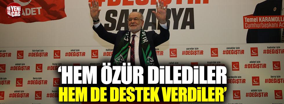 """Karamollaoğlu: """"Hem özür dilediler, hem de destek verdiler"""""""