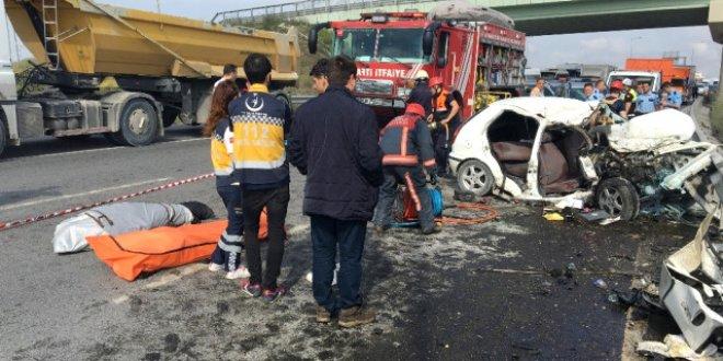 Arnavutköy'de ölümlü kaza