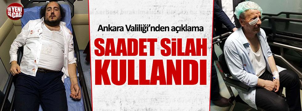 Ankara Valiliği'nden Saadet Partisi'ne yapılan saldırıyla ilgili açıklama