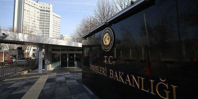 Dışişleri Bakanlığı Almanya'yı kınadı