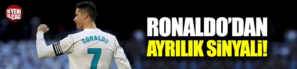 Ronaldo'dan ayrılık sinyali