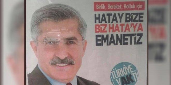 AKP'li vekil adayının afişinde skandal 'Hata'