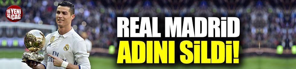 Real Madrid Ronaldo'nun ismini sildi