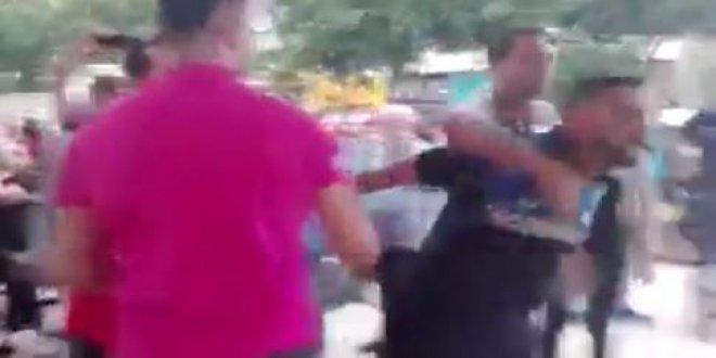İYİ Parti çadırına bıçaklı zabıtalar saldırdı!